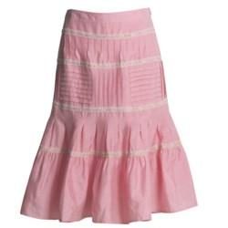 Bogner Linen-Silk Gypsy Skirt (For Women) in Pink