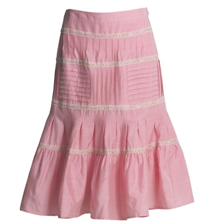 Bogner Linen-Silk Gypsy Skirt (For Women) in Pink