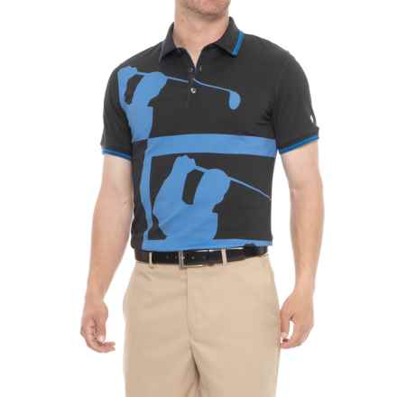 Bogner Linus Golf Polo Shirt - Cotton, Short Sleeve (For Men) in Blue - Closeouts