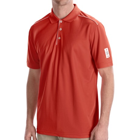 Bogner Luciano Polo Golf Shirt - Short Sleeve (For Men) in Papaya