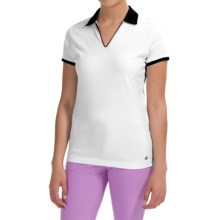 Bogner Lumi Golf Polo Shirt - Short Sleeve (For Women) in White/Black - Closeouts