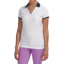 Bogner Lumi Golf Polo Shirt - Short Sleeve (For Women) in White/Navy - Closeouts