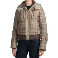 Bogner Malu Down Ski Jacket - Checkered, Insulated (For Women) in Khaki Checkered - Closeouts