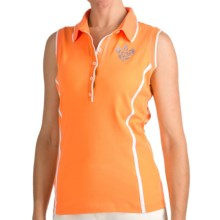 Bogner Marga Golf Polo Shirt - Sleeveless (For Women) in Orange - Closeouts