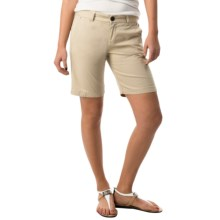 Bogner Mariel-G Stretch Cotton Shorts (For Women) in Beige - Closeouts