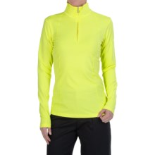 Bogner Marna Jersey Shirt - Zip Neck, Long Sleeve (For Women) in Lime - Closeouts