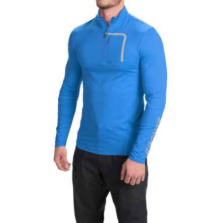 Bogner Matias Shirt - Stretch Nylon, Zip Neck, Long Sleeve (For Men) in Ocean Blue - Closeouts