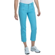 Bogner Merle-G Golf Capris - Stretch Cotton (For Women) in Turquoise - Closeouts
