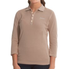 Bogner Morena Polo Shirt - Cotton Pique, 3/4 Sleeve (For Women) in Bisque - Closeouts
