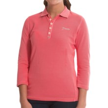 Bogner Morena Polo Shirt - Cotton Pique, 3/4 Sleeve (For Women) in Corallo - Closeouts