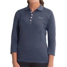 Bogner Morena Polo Shirt - Cotton Pique, 3/4 Sleeve (For Women) in Dark Blue - Closeouts