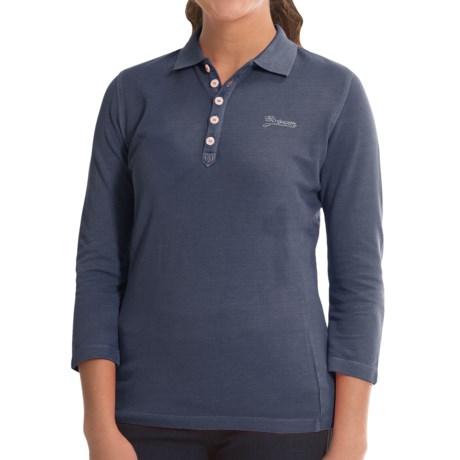 Bogner Morena Polo Shirt Cotton Pique, 3/4 Sleeve (For Women)