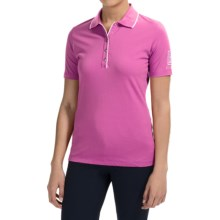 Bogner Natty Golf Polo Shirt - Swarovski® Crystals, Short Sleeve (For Women) in Magenta - Closeouts
