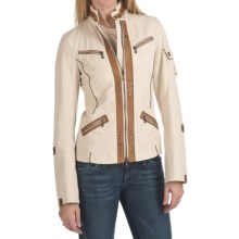 Bogner Nova-G Golf Jacket - Cotton Gabardine (For Women) in Khaki - Closeouts
