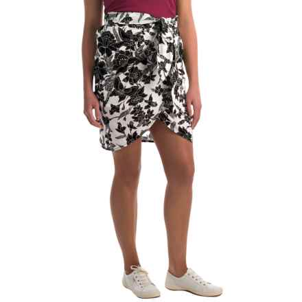 Bogner Palma Faux-Wrap Skirt (For Women) in Black/White Print - Closeouts
