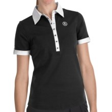 Bogner Patty Striped Golf Polo Shirt - Short Sleeve (For Women) in Black - Closeouts