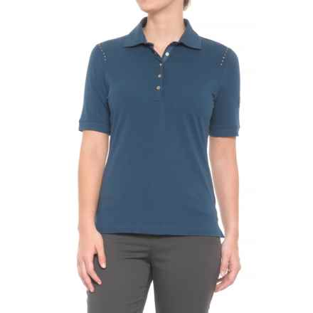 Bogner Polly Golf Polo Shirt - Short Sleeve (For Women) in Blue - Closeouts
