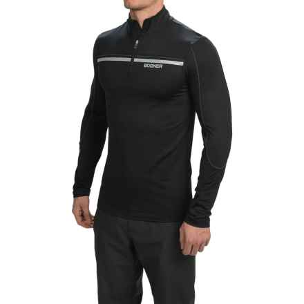 Bogner Rasmus Jersey Shirt - Zip Neck, Long Sleeve (For Men) in Black - Closeouts