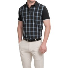 Bogner Robbin Golf Polo Shirt - Stretch Cotton, Short Sleeve (For Men) in Black - Closeouts