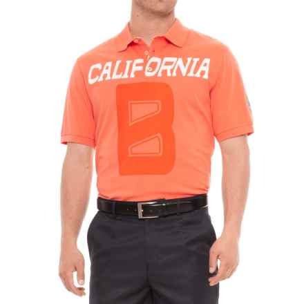 Bogner Ronny Golf Polo Shirt - Short Sleeve (For Men) in Orange - Closeouts
