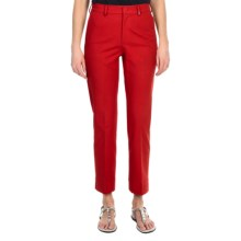 Bogner Rosi Crop Pants - Cotton Pique (For Women) in Red - Closeouts