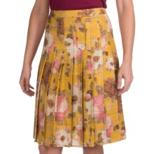 Bogner Rosina Silk Pleated Skirt (For Women) in Yellow Print - Closeouts