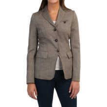 Bogner Sanya Wool-Cashmere Blazer (For Women) in Brown Multi - Closeouts