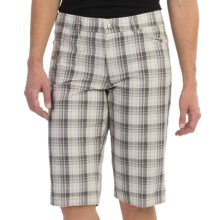 Bogner Seda Cotton Golf Bermuda Shorts (For Women) in Olive Check - Closeouts