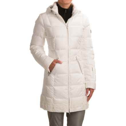 Bogner Selina-D Long Down Jacket - Waterproof, 600 FP (For Women) in Off White - Closeouts