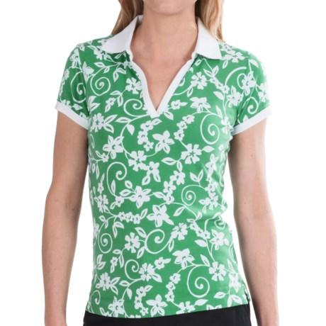 Bogner Sia Golf Polo Shirt - Short Sleeve (For Women) in Green Print