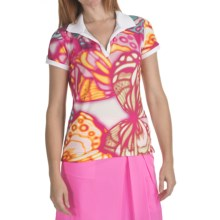 Bogner Sia Golf Polo Shirt - Short Sleeve (For Women) in Pink Print - Closeouts