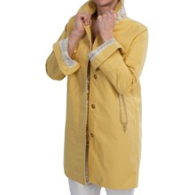 Bogner Sidney Long Straight Coat - Cotton-Linen (For Women) in Sunflower - Closeouts