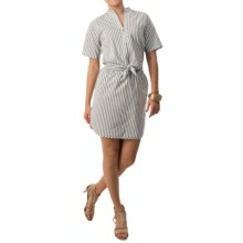 Bogner Sonia Beverly Dress - Short Sleeve (For Women) in Black/Grey Stripe - Closeouts