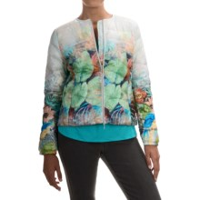 Bogner Sonia Jessy-D Quilted Jacket (For Women) in Blue/Green/White Watercolor Print - Closeouts