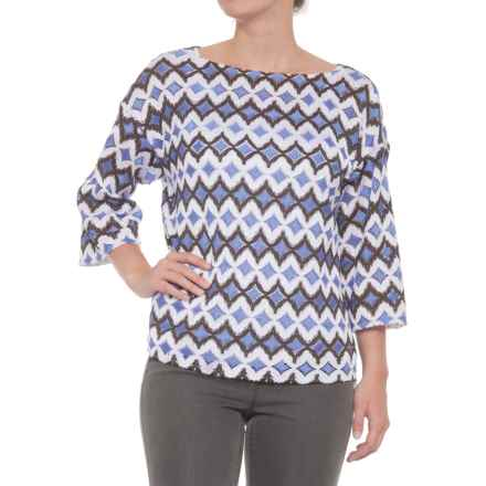 Bogner Sonia Mary-1 Blouse - 3/4 Sleeve (For Women) in White - Closeouts