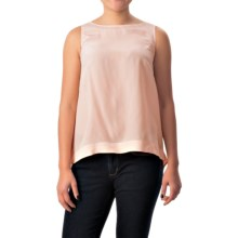 Bogner Sonia Zoella Silk Blouse - Sleeveless (For Women) in Peach - Closeouts