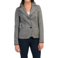 Bogner Soraya New Wool Blazer in Black/White Houndstooth - Closeouts