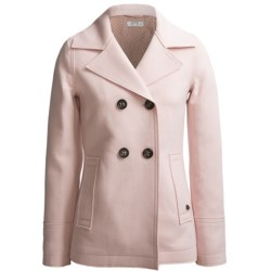 Bogner Stella Coated Wool Jacket - Double Breasted (For Women) in Light Pink