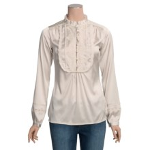 Bogner Stretch Gaetana Shirt - Silk-Satin, Long Sleeve (For Women) in Cream - Closeouts