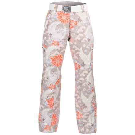 Bogner Terri Printed Ski Pants - Insulated (For Women) in Tan Kimono - Closeouts