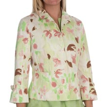Bogner Tessy Blazer - 3/4 Sleeve (For Women) in Beige Print - Closeouts
