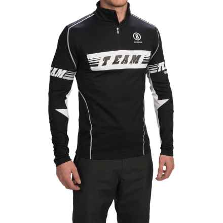 Bogner Tim Jersey Shirt - Zip Neck, Long Sleeve (For Men) in Black - Closeouts