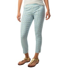 Bogner Valery Jeggings (For Women) in Blue/Green/White Jacquard - Closeouts