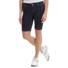 Bogner Varna-G Bermuda Gold Shorts (For Women) in Navy - Closeouts