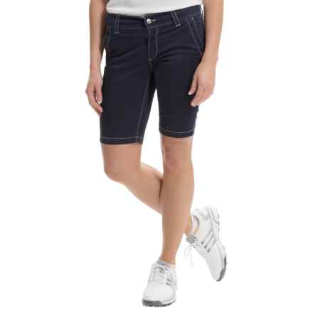 Bogner Varna-G Bermuda Gold Shorts (For Women) in Navy - Closeouts