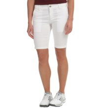 Bogner Varna-G Bermuda Gold Shorts (For Women) in White - Closeouts