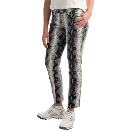 Bogner Vilma-G Printed Golf Crop Pants (For Women) in Snake Print - Closeouts