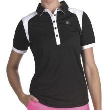 Bogner Vivica Golf Polo Shirt - Short Sleeve (For Women) in Black - Closeouts