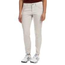 Bogner Yvon-G Crop Golf Pants - Slim Fit, Cotton Blend (For Women) in Light Grey - Closeouts