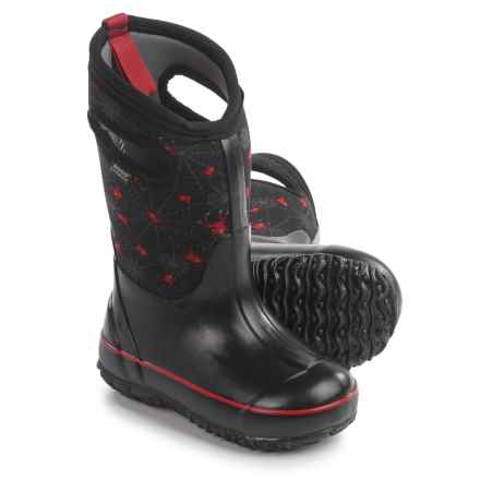 Bogs Creepy Crawler Rain Boots - Waterproof (For Toddlers) in Black Multi - Closeouts